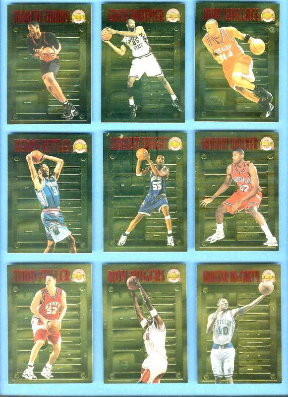 1996 Score Board 'Pure Performance' GOLD #PP.8 John Wallace Basketball cards value
