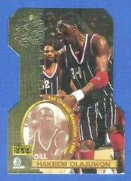 1997 Score Board 'Players Club' DIE-CUTS #D.5 Hakeem Olajuwon Basketball cards value