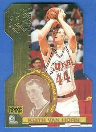 1997 Score Board 'Players Club' DIE-CUTS #D12 Keith Van Horn Basketball cards value