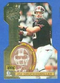 1997 Score Board 'Players Club' DIE-CUTS #D15 Jim Druckenmiller Football cards value