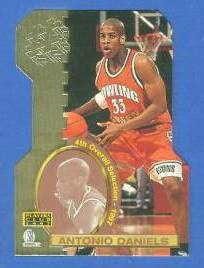 1997 Score Board 'Players Club' DIE-CUTS #D20 Antonio Daniels Basketball cards value