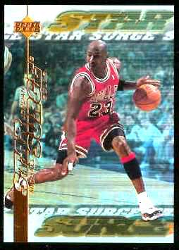 1999-00 Upper Deck Star Surge #S.1 Michael Jordan Basketball cards value