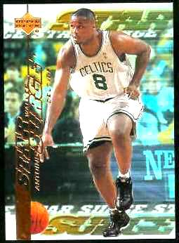1999-00 Upper Deck Star Surge #S10 Antoine Walker Basketball cards value