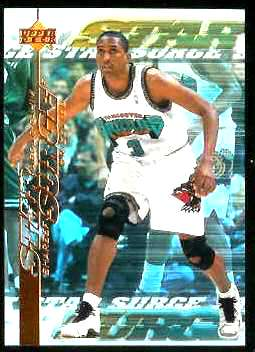 1999-00 Upper Deck Star Surge #S11 Shareef Abdur-Rahim Basketball cards value