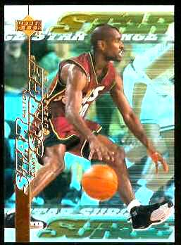 1999-00 Upper Deck Star Surge #S13 Gary Payton Basketball cards value