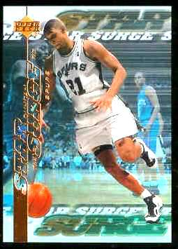 1999-00 Upper Deck Star Surge #S.6 Tim Duncan Basketball cards value