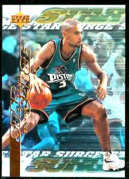 1999-00 Upper Deck Star Surge #S.7 Grant Hill Basketball cards value