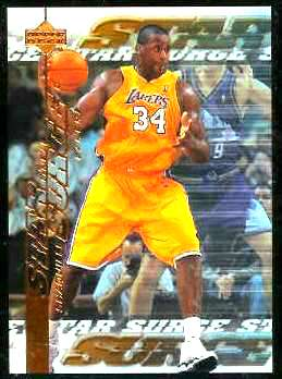 1999-00 Upper Deck Star Surge #S.9 Shaquille O'Neal Basketball cards value