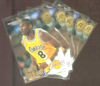 1996-97 Hoops #281 Kobe Bryant ROOKIE - LOT of (5) ROOKIES Basketball cards value