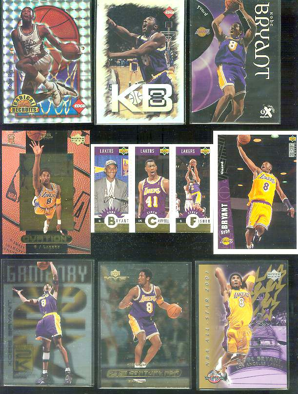 2001 NBA All-Star Game 3 Kobe Bryant Upper Deck Basketball cards value