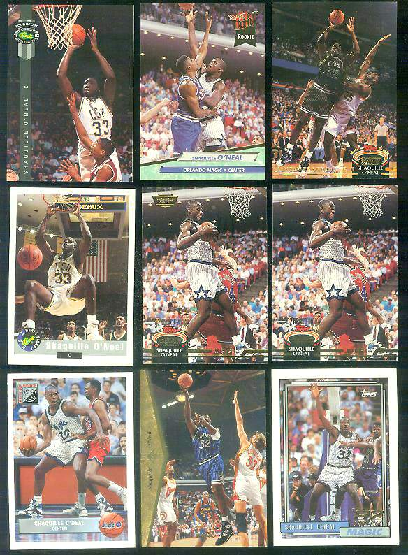 1992-93 Stadium Club #201 Shaquille O'Neal ROOKIE 'Members Choice' Basketball cards value