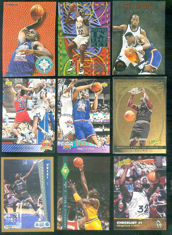 1994-95 Fleer 'All-Stars' #9 Shaquille O'Neal Basketball cards value