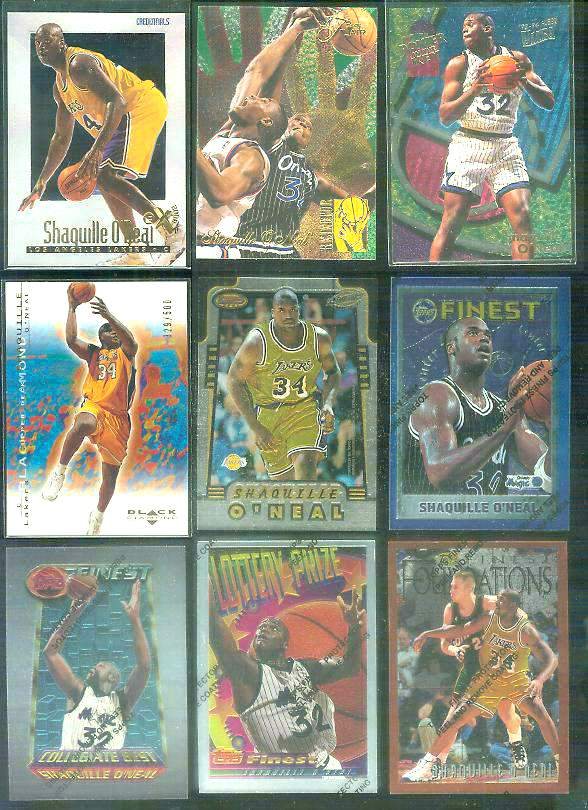 1994-95 Finest #280 Shaquille O'Neal 'Collegiate Best' Basketball cards value