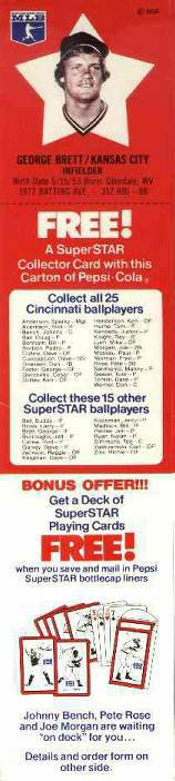 1978 Pepsi #28 George Brett (Royals) Baseball cards value
