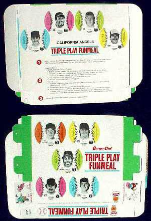 Angels - 1977 Burger Chef UNFOLDED Funmeal Box COMPLETE TEAM SET Baseball cards value