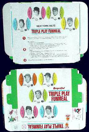Mets - 1977 Burger Chef UNFOLDED Funmeal Box COMPLETE TEAM SET Baseball cards value