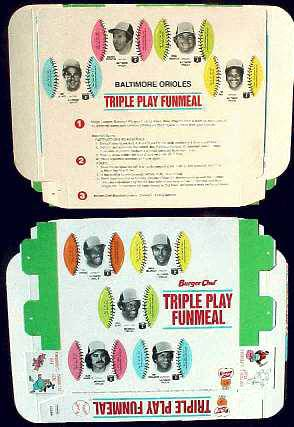 Orioles - 1977 Burger Chef UNFOLDED Funmeal Box COMPLETE TEAM SET Baseball cards value