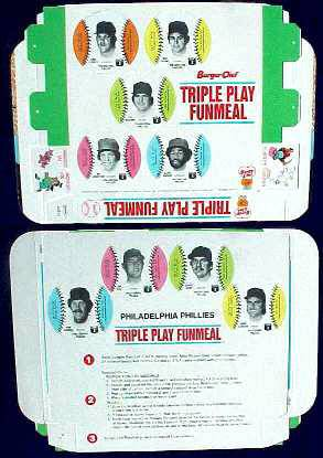 Phillies - 1977 Burger Chef UNFOLDED Funmeal Box COMPLETE TEAM SET Baseball cards value