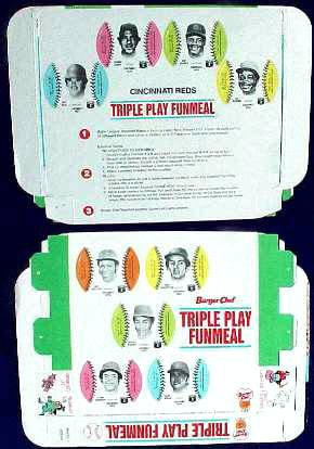 Reds - 1977 Burger Chef UNFOLDED Funmeal Box COMPLETE TEAM SET Baseball cards value