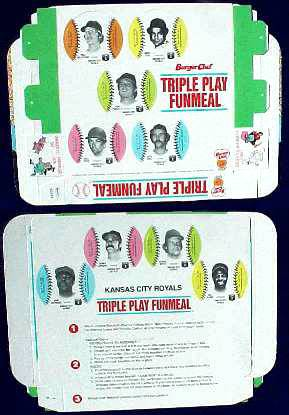Royals - 1977 Burger Chef UNFOLDED Funmeal Box COMPLETE TEAM SET Baseball cards value