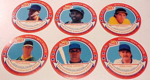 1989 King-B disc - Complete Set of (24) Discs Baseball cards value