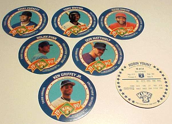 1990 King-B disc - Complete Set of (24) Discs Baseball cards value