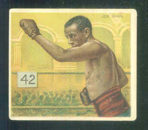 Joe Gans - 1910 T218 Mecca BOXING (Throwing Punch) Non-Sport cards value