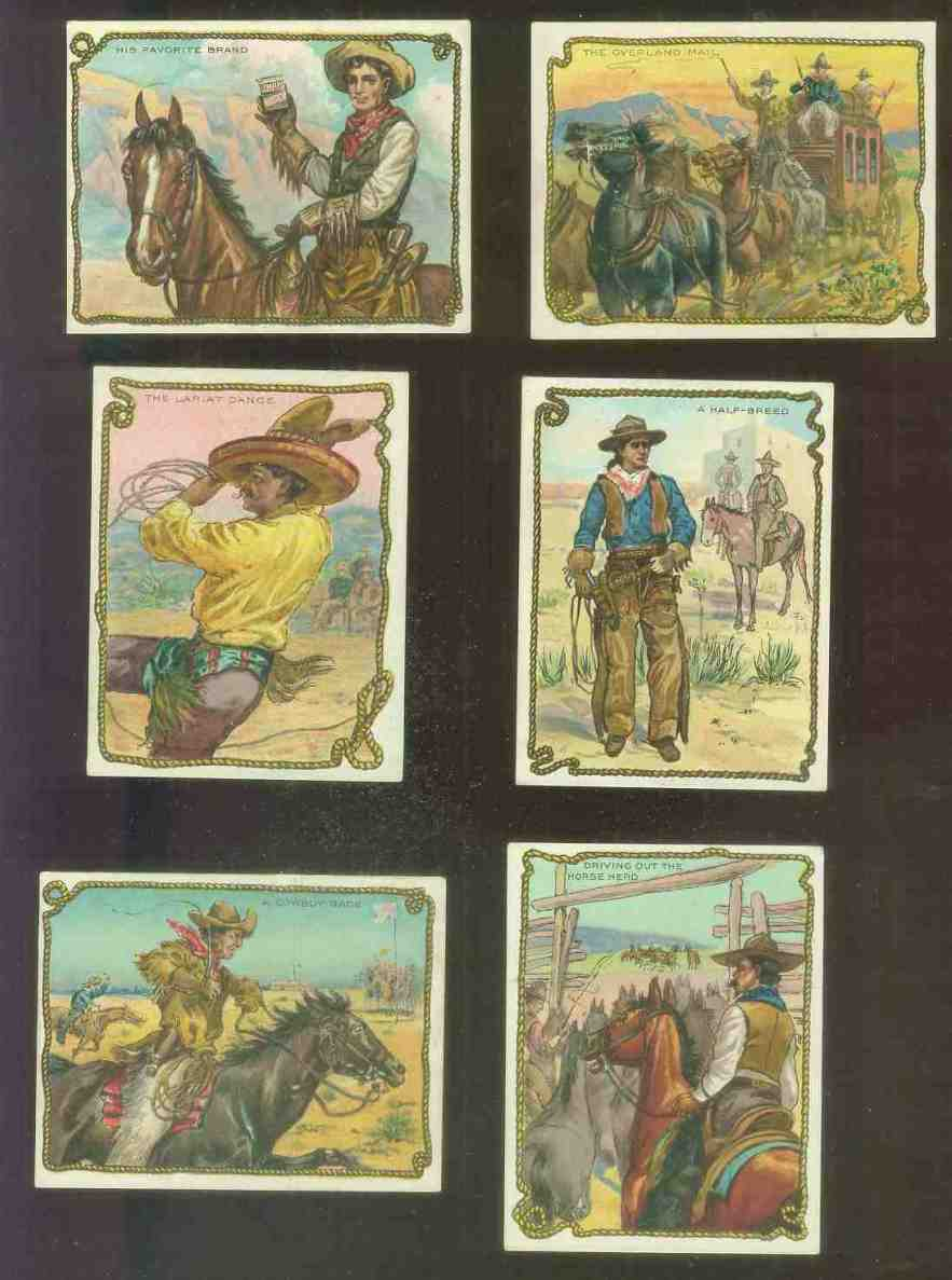 1910 Hassan Cowboy Series - His Favorite Brand Non-Sport cards value