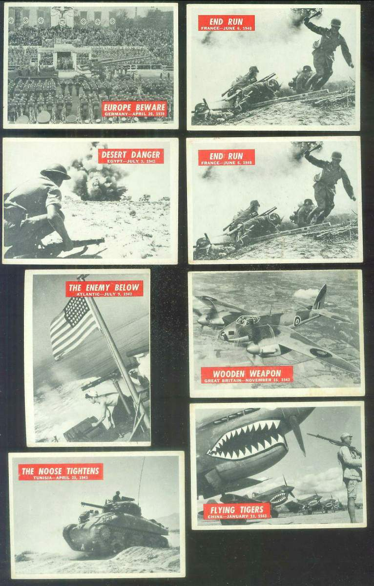 1965 Philadelphia WAR BULLETIN #17 'Flying Tigers' Non-Sport cards value