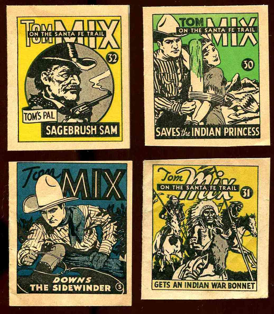 1934 Tom Mix #32 - 8-page mini booklet (National Chicle) n cards value