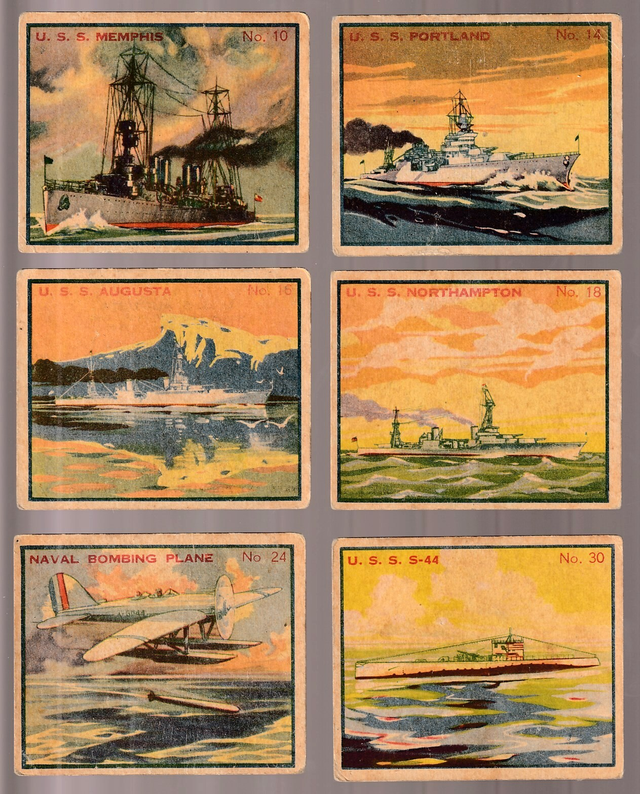 1936 Battleship Gum #30 U.S.S. S-44 - Fleet Submarine First Line n cards value