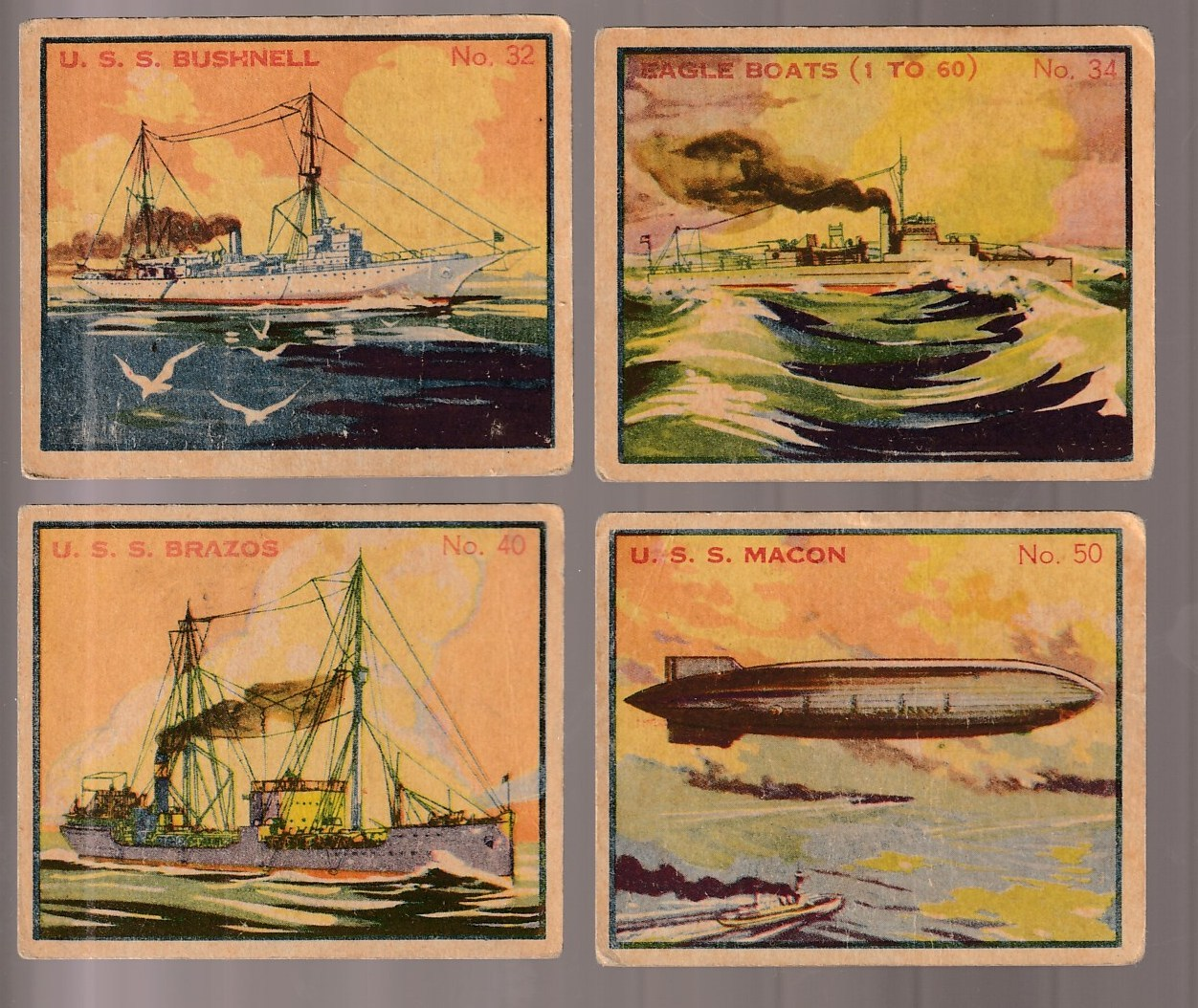 1936 Battleship Gum #50 U.S.S. Macon - Rigid Airship n cards value