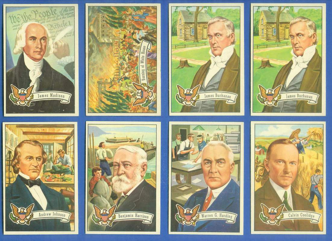1956 Topps U.S. PRESIDENTS #.6 James Madison Non-Sport cards value
