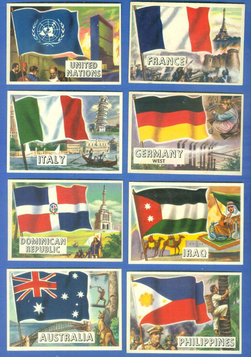 1956 Topps FLAGS of the World #41 Philippines Non-Sport cards value