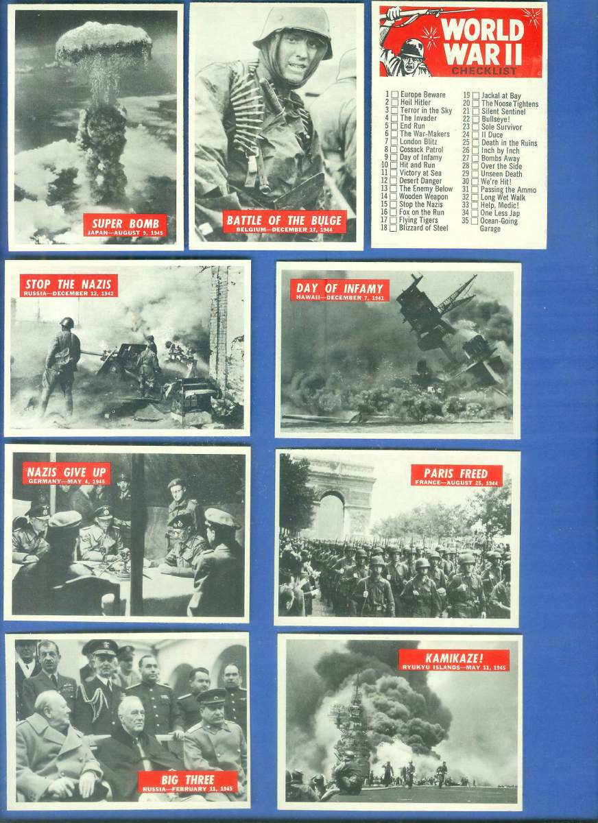 1965 Philadelphia WAR BULLETIN #CL Checklist Non-Sport cards value