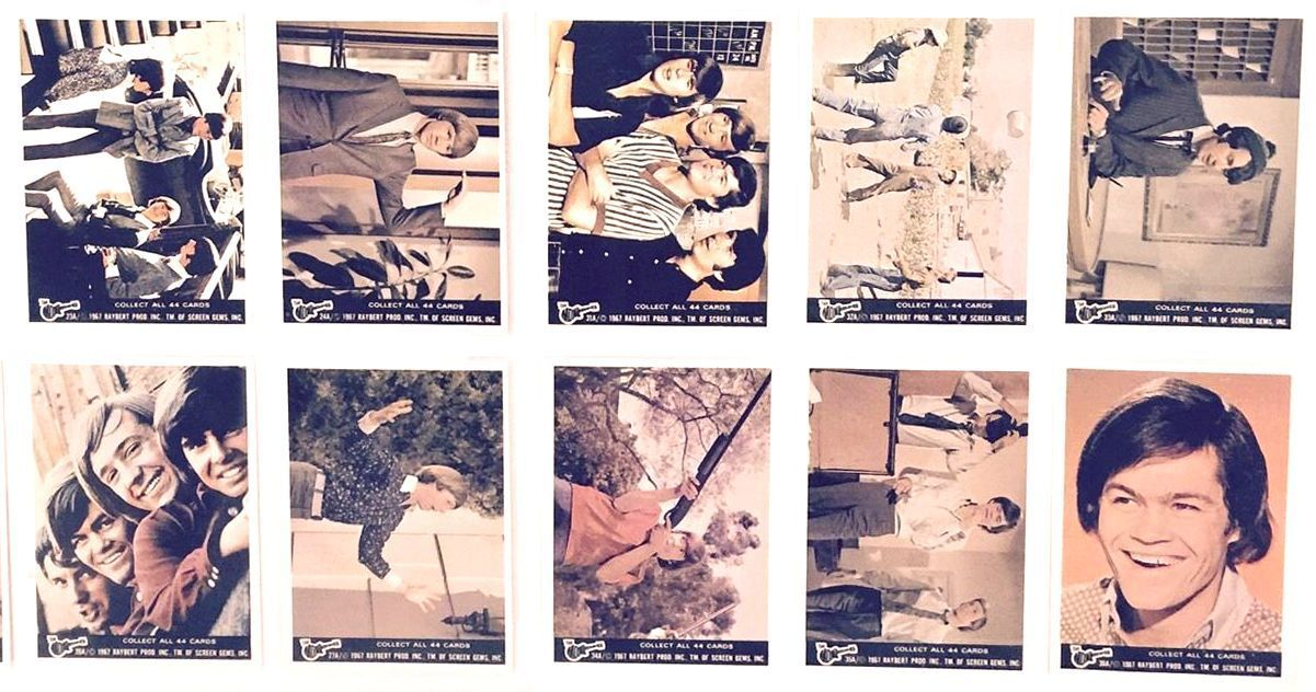 1967 Raybert MONKEES - Series #A - COMPLETE SET (44 cards) n cards value