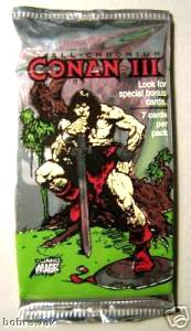 1995 Conan III - Lot (22) Wax Packs + (17) extra cards (NM/MINT) Non-Sports cards value
