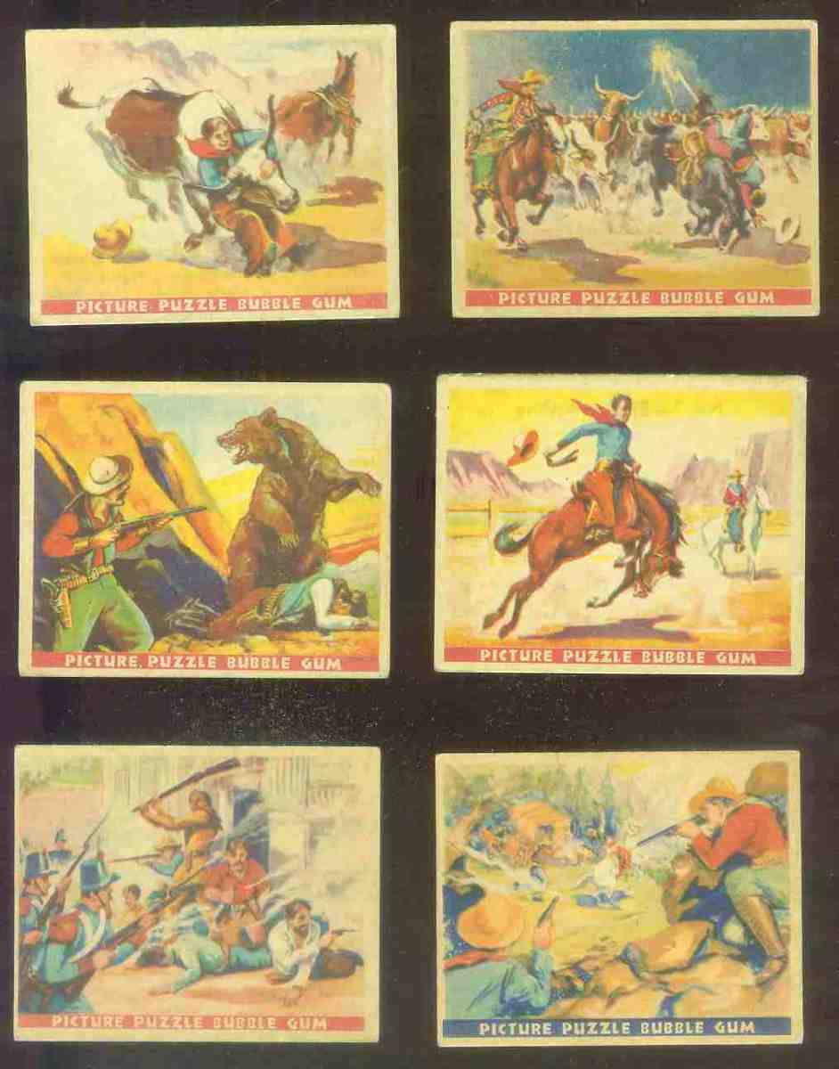 1937 Gum Inc. Wild West #10 A Battle with a Grizzly Non-Sport cards value