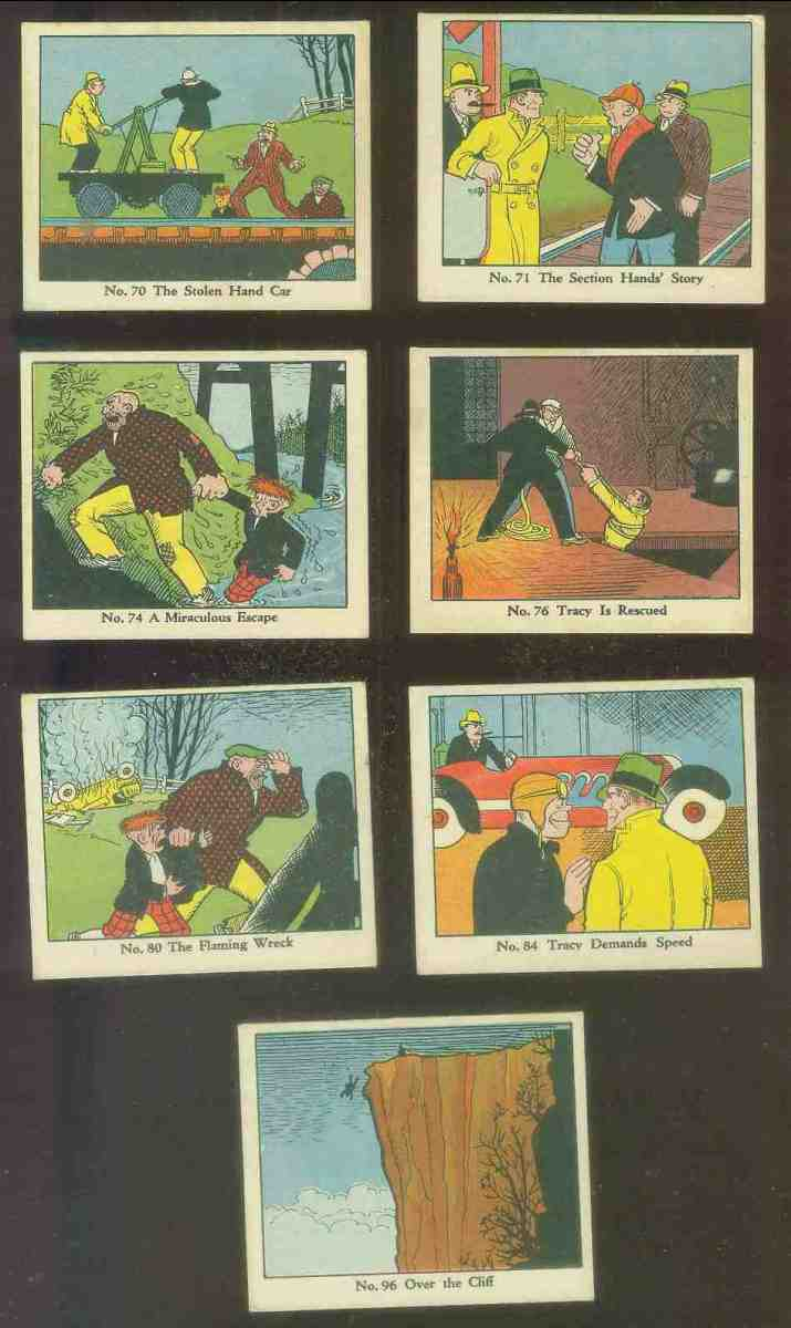 1937 Dick Tracy #96 Over the Cliff Non-Sport cards value