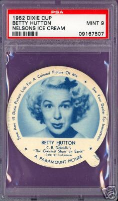 1952 Dixie Cup Nelson Ice Cream - BETTY HUTTON Non-Sport cards value