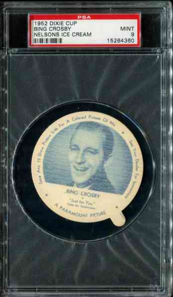 1952 Dixie Cup Nelson Ice Cream - BING CROSBY Non-Sport cards value