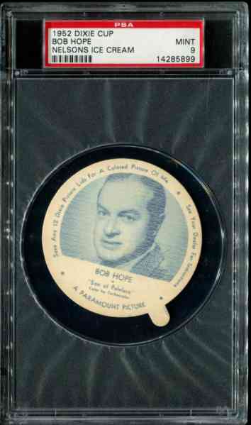 1952 Dixie Cup Nelson Ice Cream - BOB HOPE Non-Sport cards value