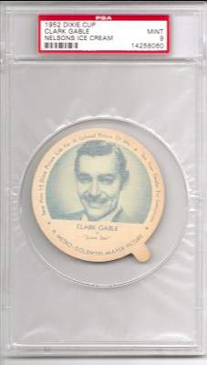 1952 Dixie Cup Nelson Ice Cream - CLARK GABLE Non-Sport cards value