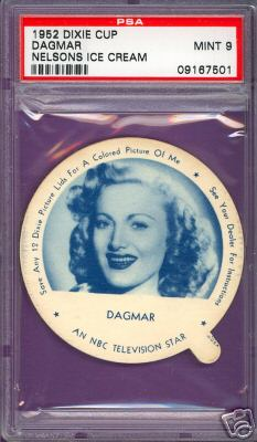 1952 Dixie Cup Nelson Ice Cream - DAGMAR Non-Sport cards value
