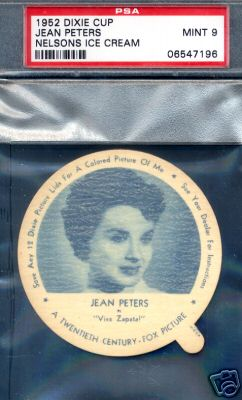 1952 Dixie Cup Nelson Ice Cream - JEAN PETERS Non-Sport cards value