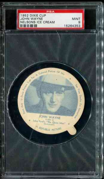 1952 Dixie Cup Nelson Ice Cream - JOHN WAYNE Non-Sport cards value