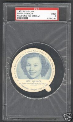1952 Dixie Cup Nelsons Ice Cream - MITZI GAYNOR Baseball cards value