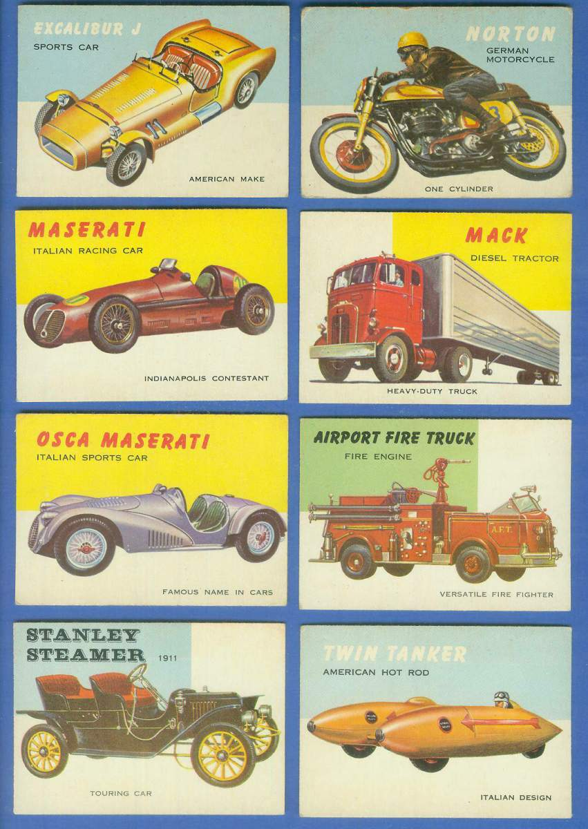 1954-55 Topps WORLD ON WHEELS #.41 Stanley Steamer Touring Car 1911 Non-Sport cards value