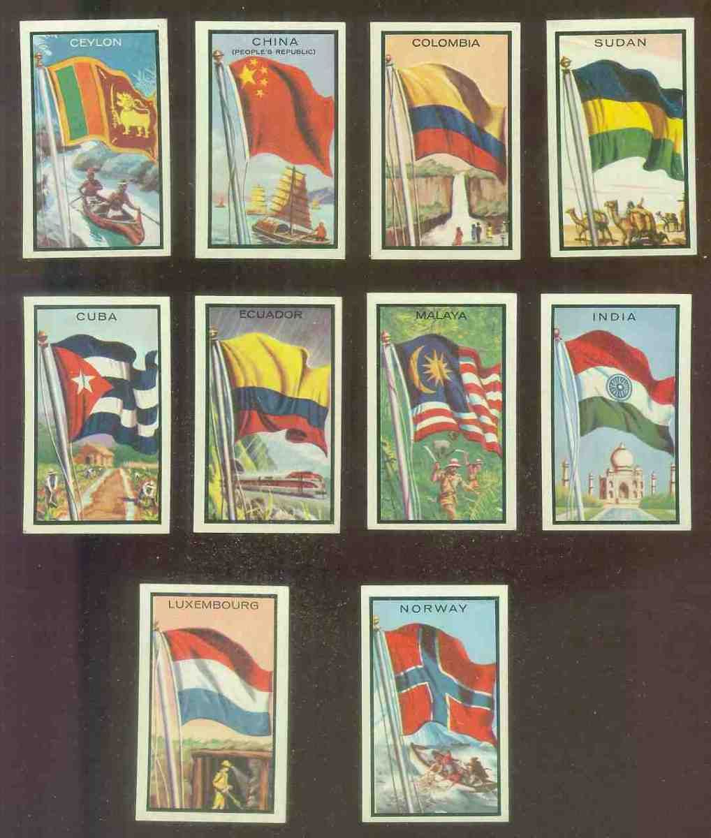 1963 Topps Flags Midgee #17 Colombia Non-Sport cards value