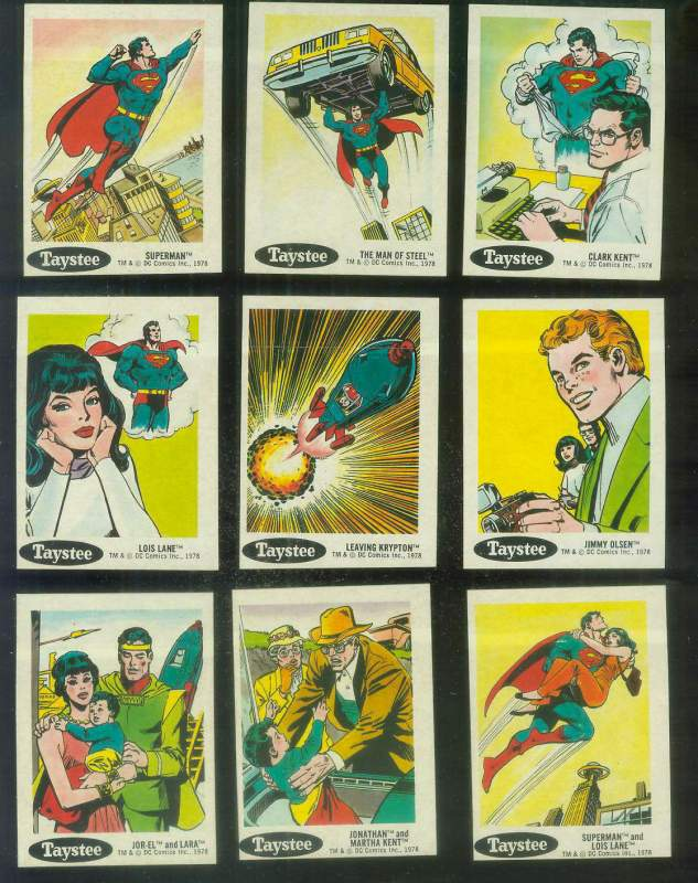 1978 Taystee Super Heroes #.1 Superman Non-Sport cards value